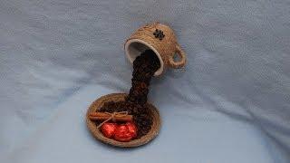Композиция из кофейных зерен. Мастер-класс. Composition of coffee beans