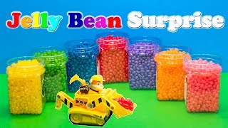 getlinkyoutube.com-JELLY BEAN SURPRISE Nickelodeon Funny Paw Patrol Disney Frozen Elsa Toys Kinder Surprise Eggs Video