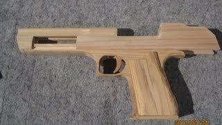 getlinkyoutube.com-BLOW⇔BACK RUBBER BAND GUN 04.0 I.W.I DESERT EAGLE making the body