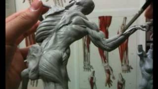 getlinkyoutube.com-Super Sculpey Ecorche Figurine Sculpting-Part 25/34