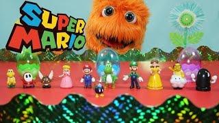 getlinkyoutube.com-Super Mario Bros Toys: Super Mario Action Figure Collection // Fuzzy Puppet