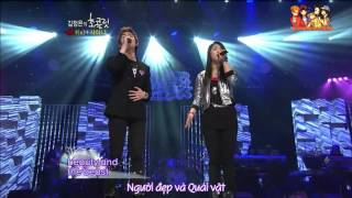 getlinkyoutube.com-[Vietsub]  Luna ft. Onew - Beauty & The Beast @ Kim Jung Eun's Chocolate