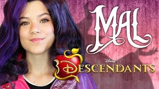 getlinkyoutube.com-DISNEY DESCENDANTS MAL MAKEUP TUTORIAL!  |  KITTIESMAMA