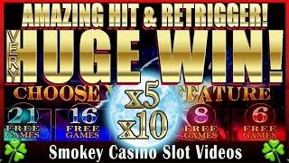 getlinkyoutube.com-Insane HUGE Win! TIMBERWOLF SLOT MACHINE - With Amazing Retrigger!