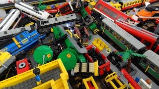 getlinkyoutube.com-13 Lego city train crash with Metroliner, Horizon Express, 7740, 7745, 60051, 60052, 3677