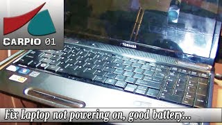 getlinkyoutube.com-How to Fix Laptop not powering on, good battery, power adapter and power jack.
