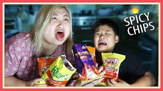 getlinkyoutube.com-Tasting Flamin' Hot Chips Challenge! ft Crew - (MadewithSoyy)