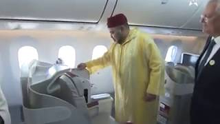 getlinkyoutube.com-Mohamed VI inaugure le 1er/5 Boeing 787 dreamliner royal air Maroc