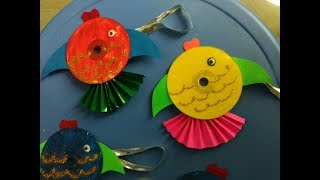 DIY - Fish by using waste CD | Innovative artsncrafts