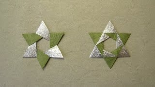 getlinkyoutube.com-Christmas Origami Instructions: Hex Star (Maria Sinayskaya)