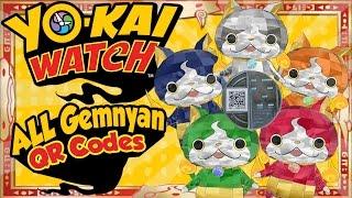 getlinkyoutube.com-Yo-Kai Watch - ALL 5 Gemnyan / Jewelnyan QR Codes for U.S. and EU! [Tips & Tricks]