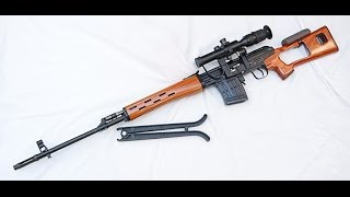 getlinkyoutube.com-WE Ace-VD (SVD) GBB Airsoft Sniper Rifle Review and Shooting!