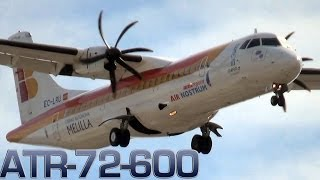 getlinkyoutube.com-ATR 72-600 Crosswind landing (EC LRU) [HD]