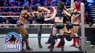 Charlotte, Becky, Brie & Alicia Fox vs. Paige & Team B.A.D.: WWE Tribute to the Troops 2015