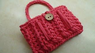 getlinkyoutube.com-CROCHET How To #Crochet T Shirt Yarn Bag Purse Featuring Wool and The Gang Yarn #TUTORIAL #310