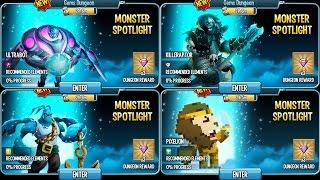Completing Crazy Dungeon Spotlights on Monster Legends #1