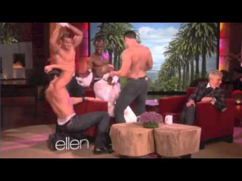 Four Hot Guys Give NeNe Leakes  Lap Dance on 'Ellen'