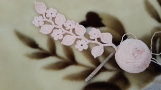 getlinkyoutube.com-Вязание ветки с цветами и листьями