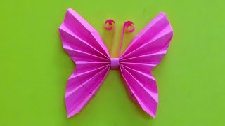 getlinkyoutube.com-How to make a paper butterfly | Easy origami butterflies for beginners making | DIY-Paper Crafts