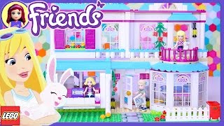 getlinkyoutube.com-Lego Friends Stephanie's House Build Setup Review - Kids Toys