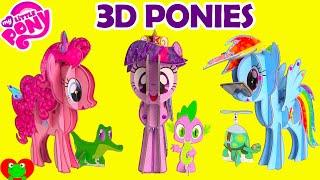 getlinkyoutube.com-My Little Pony 3D Pony Pinkie Pie, Twilight Sparkle, and Rainbow Dash