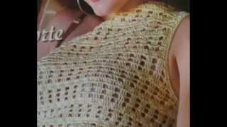 getlinkyoutube.com-Como tejer blusa fácil a crochet