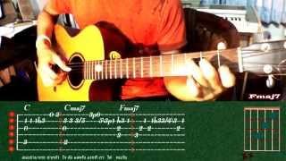 getlinkyoutube.com-สอนกีตาร์เพลง ขัดใจ Finger style อย่างละเอียด+TAB (Part 1)