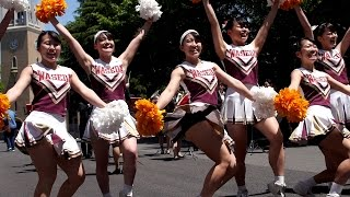 getlinkyoutube.com-Cheerleading ALWAYS 早稲田大学応援部チアリーダーズ FUNKY MONKEY BABYS