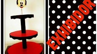 getlinkyoutube.com-DIY EXHIBIDOR DE CARTON PARA CUPCAKES O GELATINAS DE MICKEY MOUSE