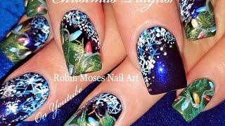 getlinkyoutube.com-Christmas Nails | DIY Hand Painted Xmas Nail Art Design Tutorial