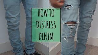 getlinkyoutube.com-How to Distress Denim | ElevatedIke