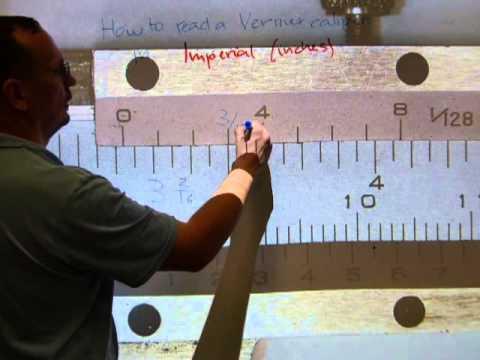 Read a vernier caliper in INCHES, measure a ball bearing