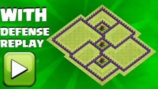 getlinkyoutube.com-Clash Of Clans - Town Hall 7 (TH7) Farming/Hybrid Base Aug 2016 + defense replays