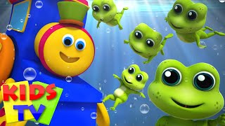 Bob The Train | Five Little Speckled Frogs | Nursery Rhymes | Kids Songs | Baby Rhymes | 3D Rhymes