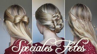 getlinkyoutube.com-★  3 coiffures faciles pour Noël !