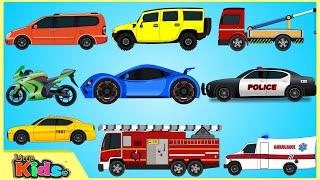 getlinkyoutube.com-Learning Street Vehicles | Street Cars & Trucks for Children | Little Kids TV