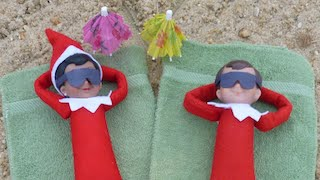 getlinkyoutube.com-FOOTAGE of My Elf on The Shelf ON THERE HONEYMOON AT THE BEACH