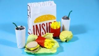 getlinkyoutube.com-How to Make Doll Fast Food - Doll Crafts