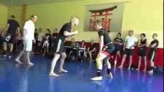 getlinkyoutube.com-strong blonde girl beats a man in grappling