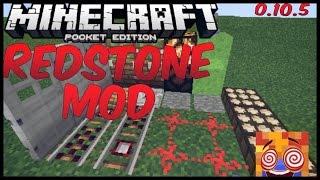 getlinkyoutube.com-Minecraft PE 0.10.5 - Redstone Mod [Repeater,Botão,Pistão.ETC…