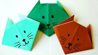 getlinkyoutube.com-Membuat Origami Kepala Kucing