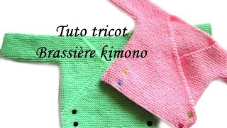 getlinkyoutube.com-TUTO TRICOT BRASSIERE KIMONO BEBE FACILE ET RAPIDE  EASY KNITTING BABY