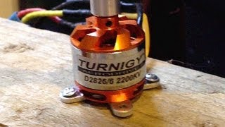 Turnigy 2826 6 2200kv - Bench Test - 1.2KG Thrust @ 32A