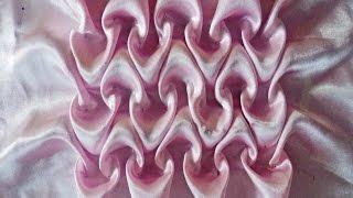 getlinkyoutube.com-Canadian smocking heart pattern for cushion