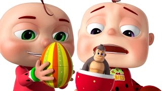getlinkyoutube.com-Five Little Babies Opening The Eggs | Five Little Babies Collection | Zool Babies Fun Rhymes