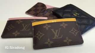 Comparison review: Louis Vuitton & Chanel card holder