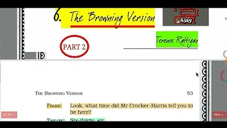 The Browning Version Class 11 in Hindi (Part 2) By Terence Rattigan