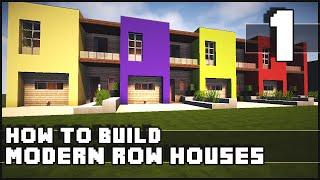 getlinkyoutube.com-Minecraft House - How to Build : Modern Row Houses - Part 1