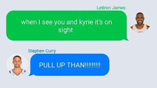 LeBron Texting Stephen Curry After Mocking Him with Kyrie Irving