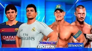 Cristiano Ronaldo y Messi VS John Cena Y Randy Orton !! - WWE2K16 - ElChurches